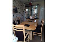 Dining room suite & dresser