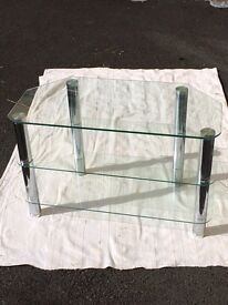 Glass and chrome side unit