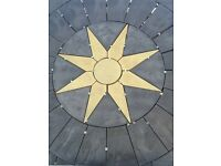 6ft/10ft star circles and paving.