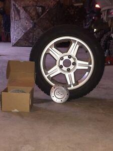 (4) 205/55R16 Hyundai rims with tires