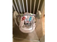 Baby swing, battery powered cosy kingdom, bright starts