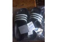 brandnew mens adidas flipflops size 11
