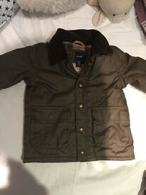 Child's Barbour wax jacket age 12-18 months toddler coat from gap