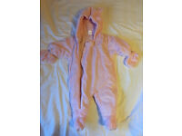 Next pink snow suit 0-3 months