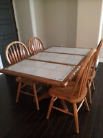 Sold Oak Dining Room Chairs (set of 4)