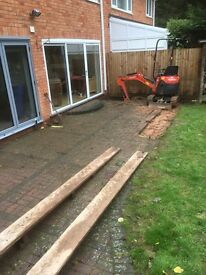 All garden and fencing work undertaken Mini & micro digger hire with driver