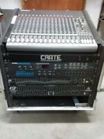 complete FOH rack and mixer