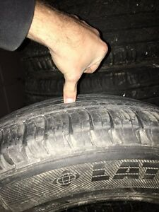 5 Michelin tires size P245/60 18r & 5 bolt jeep rims  Kitchener / Waterloo Kitchener Area image 2