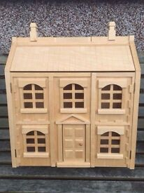 Immaculate Wooden Dolls House with Furniture