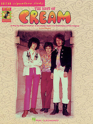 Best of Cream Signature Licks Guitar Lessons Learn to Play Rock Tab Book CD NEW ()