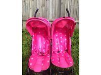 Pink double buggy