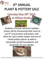 Pottery and Plant Sale