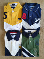 4 Brand New Authentic Tommy Hilfiger Men's Polo Shirts