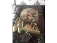 Mother of bride Hat shoes & Bag .