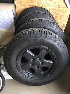 Tires on Rims - Jeep Liberty - 225/75 r16