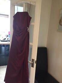 BHS bridesmaid dress and shoes