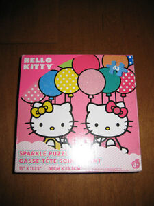 Selling a gently used Hello Kitty Glitter Puzzle