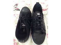 Ladies adidas black trainers size 5
