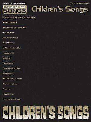 Children's Songs Sheet Music Essential Songs Series Piano Vocal Guitar (Essential Songs Series)