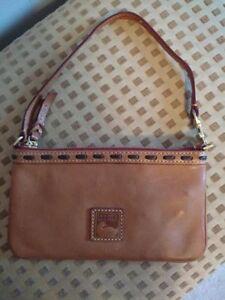 Dooney & Bourke Florentine Leather Clutch Wristlet