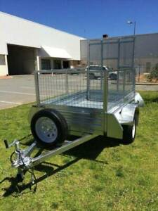 7x4 Gal Ramp Box Cage Lawn Mower Bike Trailer - $1449