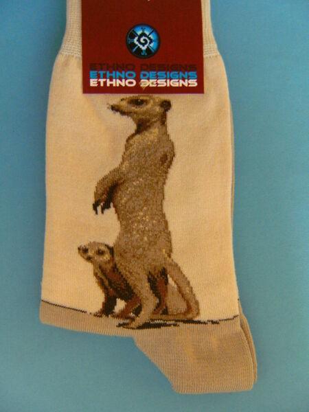 Socken Erdmännchen Strümpfe Tier Tiere Afrika Socke neu