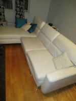 Ikea corner leather couch moving sale 8x5feet