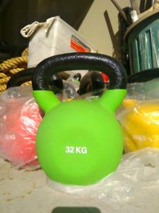 Ex-display 32kg Neoprene Cast Iron Kettlebells