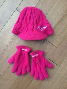 Tuque casquette et gants de polar