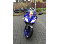 Electric Blue Yamaha Yzf R125 with Sports exhaust 2013!