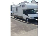 54 REG FORD TRANSIT RIMOR EUROPE 6 BERTH 2 OWNERS LONG MOT 54K VERY GD CONDITION IN AND OUT