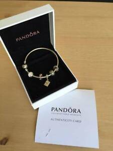 Pandora bracelet with charms - as new - never worn North Melbourne Melbourne City Preview