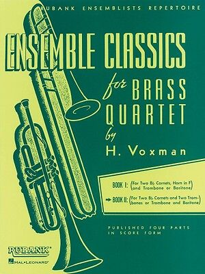 Ensemble Classics for Brass Quartet Book 2 Sheet Music for Two Cornets 004475331 ()