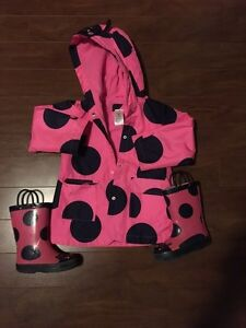 Carter's rain jacket and boots