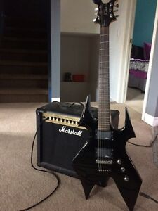 BC Rich warbeast and marshal amp