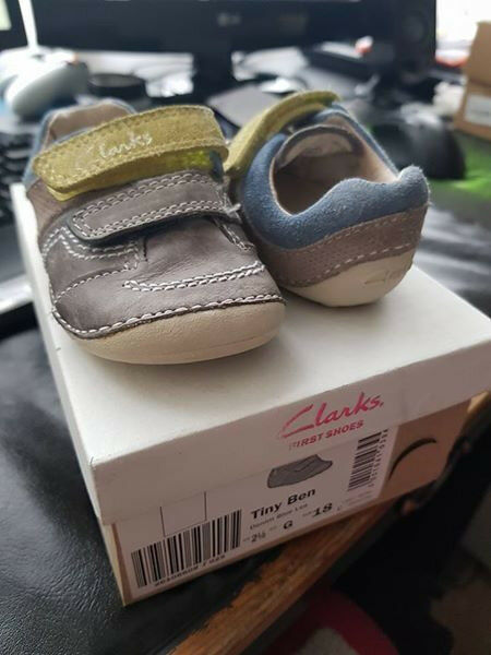Baby boy Clarks, size 2.5 fit G