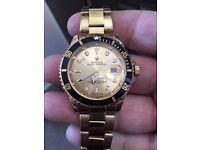 Rolex submariner Quartz all gold with black rim