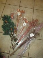 Garbage bag with decor items to make (Christmas) arrangements
