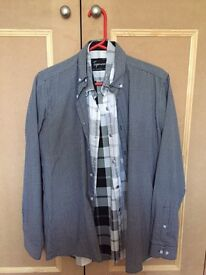 "Men's slim fit 15"" collar shirts from Topman, River Island etc"