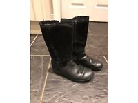Girls black clarks boots 11.5 F