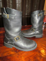 TRIUMPH MOTORCYCLES HIGHWAY BOOTS 10, BRANDO ENGINEER BOOTS