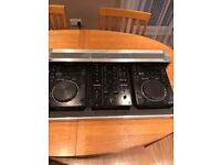 2x CDJ350s comes included with DJM350 mixer and flight case