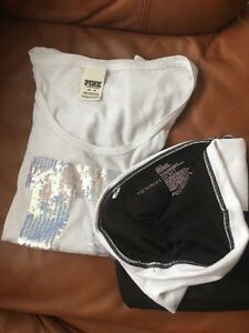 Victoria's Secret leggings and Pink t-shirt Kitchener / Waterloo Kitchener Area image 2
