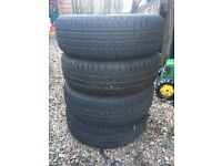 Set of 4 wheels from Peugeot with hankook Tyres 175/65r14 inc trims