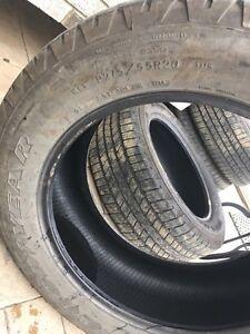 """Four 20"""" All Season Tires P275/55R20"""