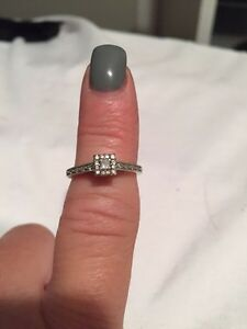 Diamond engagement ring or promise ring