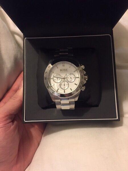 NEW Hugo boss silver watch