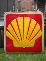 VINTAGE NEON PLASTIC SHELL SIGN