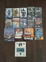 Jeux d'ordinateur à vendre - Call of Duty, Brothers In Arms, etc