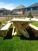 The In-Touch-with-Nature Log Table/Bench Set Collection